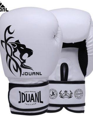 Găng Tay JDuanl Hổ Tiger Boxing Gloves Trắng – White