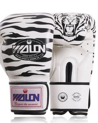 GĂNG TAY BOXING GLOVES WOLON TIGER TRẮNG – WHITE