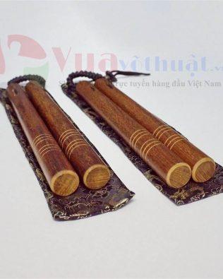 Côn nhị khúc gỗ đàn hương dây dù