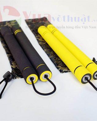 Côn nhị khúc mút xốp dây dù màu vàng cho người mới tập và trẻ em