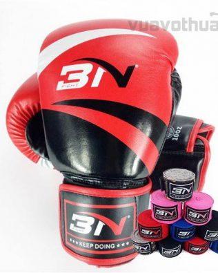 [COMBO] – Găng Boxing BN ĐỎ và băng đa quấn tay BN ĐỎ