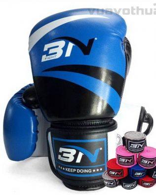[COMBO] – Găng Boxing BN XANH và băng đa quấn tay BN XANH