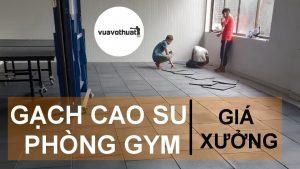Gạch cao su lót sàn phòng Gym giá rẻ lát nền | Mua bán gạch cao su | Thảm tập Võ EVA