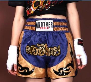 Quần Muay Thái Another Boxer Chính Hãng Muay Thai Short Chất Liệu Satin Cao Cấp | AB-013