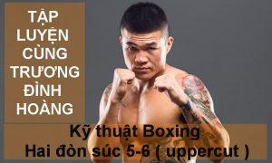 Hướng dẫn kỹ thuật Boxing  Hai đòn súc 5 & 6  (Uppercut)   Tập luyện cùng Trương Đình Hoàng