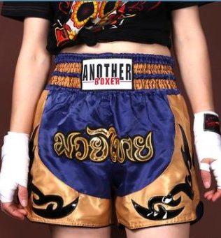 Quần Muay Thái Another Boxer Chính Hãng Muay Thai Short Chất Liệu Satin Cao Cấp   AB-013