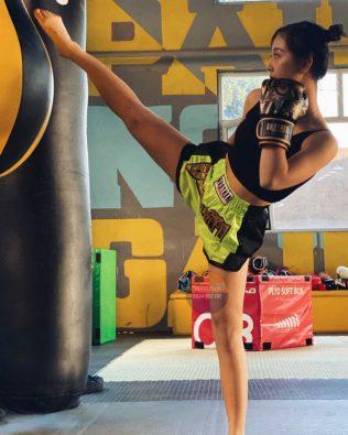 Quần Muay Thái Another Boxer Chính Hãng Muay Thai Short Chất Liệu Satin Cao Cấp   AB-016