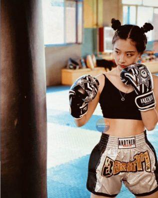 Quần Muay Thái Another Boxer Chính Hãng Muay Thai Short Chất Liệu Satin Cao Cấp   AB-017
