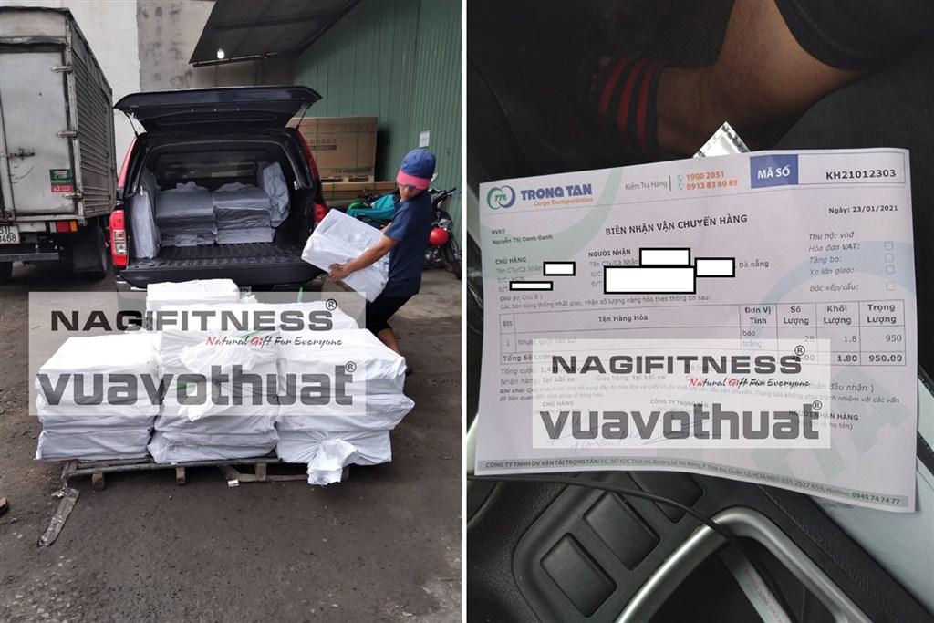Giao gạch cao su lót phòng gym Long Vũ tại Đà Nẵng