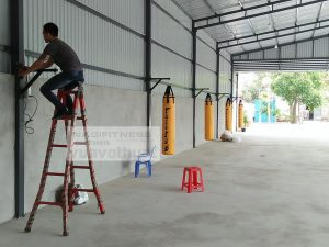 Lắp đặt 5 Bao cát 1M5 Phòng tập tại Vĩnh Tân – Tân Uyên – Bình Dương
